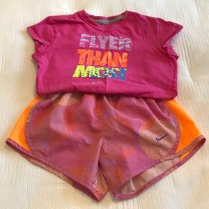 Nike Matching Sets - Nike Girls top and shorts M